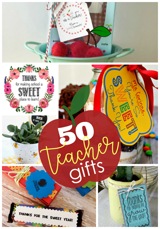 50 Teacher Gifts at GingerSnapCrafts.com #teacher #teachergift