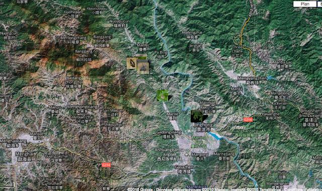 Localisation des photos au Xichuangbanna
