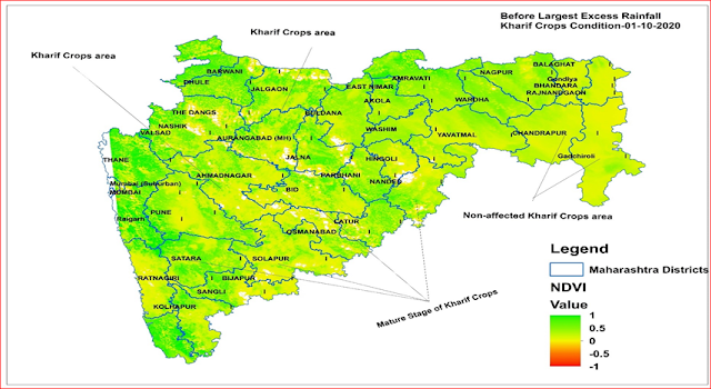 Assessment of Kharif Crops Condition (2020) in Maharashtra state In India using remote sensing and GIS Techniques