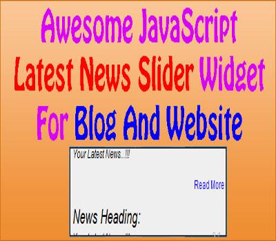 Awesome JavaScript News Slider Widget