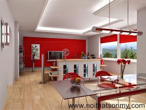 Mẫu thiết kế nội thất phòng khách 328