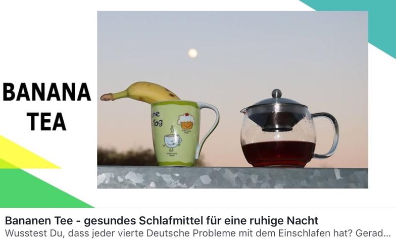 Bananen Tee ein gesundes Schlafmittel