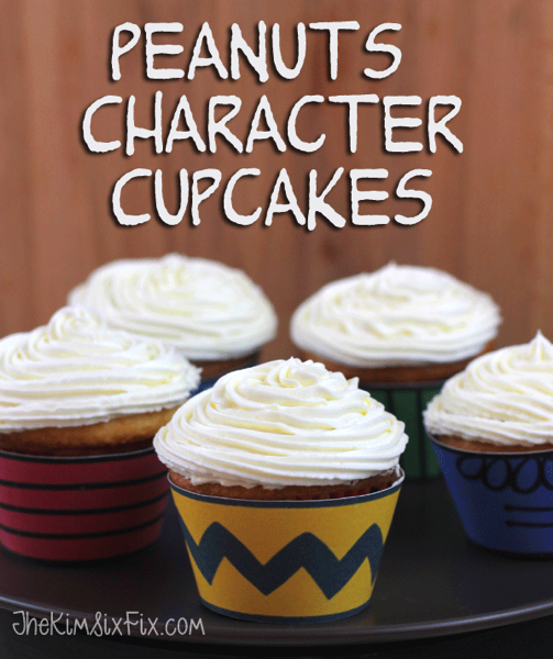 Peanuts chacter cupcakes