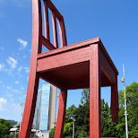 broken chair in Geneva in Geneva, Geneva, Switzerland