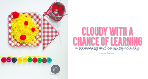 Cloudy With A Chance of Meatballs Math Activity