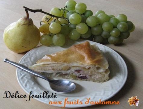 recette du délice feuilleté aux fruits d'automne