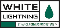 A white Lightning E85 Conversion kit allows fuel injected vehicles to run on ethanol