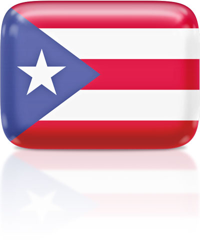 Puerto Rican flag clipart rectangular