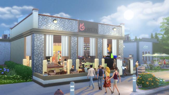 De Sims 4 Uit Eten open restaurant