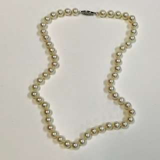 14K White Gold and Pearl Necklace