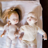 'MANGEL'  - Installation - Dolls, cloth