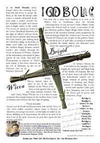 Cover of Leo Ruickbie's Book Imbolc Festival of the Goddess Brigid