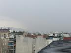 Der heftigste Regen zieht nun über die Innenstadt. #Wetter #Wien #Gewitter