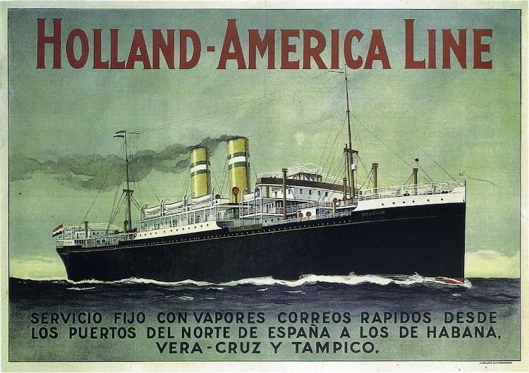 Otro cartel de Holland America Line anunciando la linea. Del libro Gijón Trasatlantico.jpg