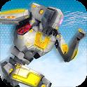 robot correr: multi transforma icon