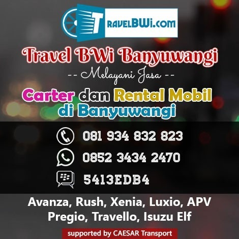 Travel Bwi Banyuwangi - Jasa Carter dan Rental Mobil