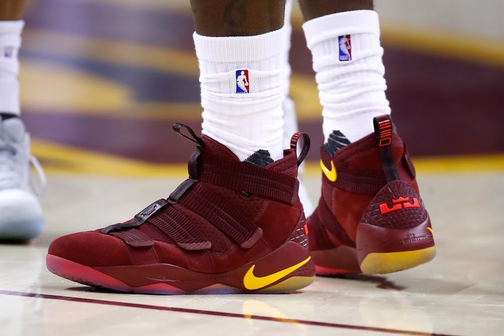 579851b28c7 LBJ Debuts Nike LeBron Soldier 11 in Game 1 Win Over Pacers ...