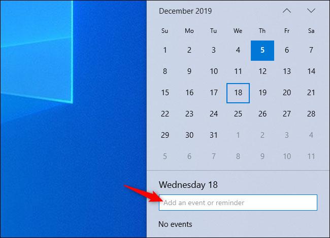 Tạo sự kiện mà không cần mở ứng dụng Calendar
