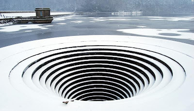 large hole in the water