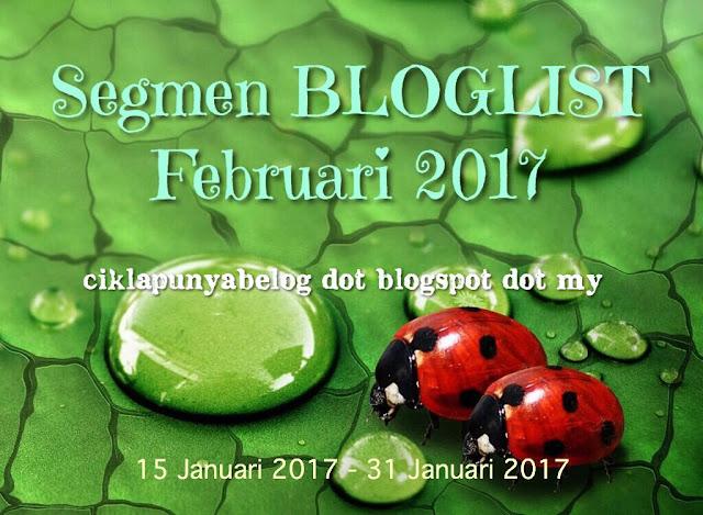 Segmen bloglist Februari