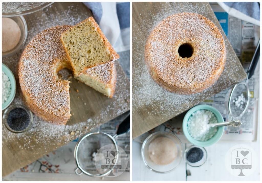 Angel Food Cake de vainilla y semillas de amapola