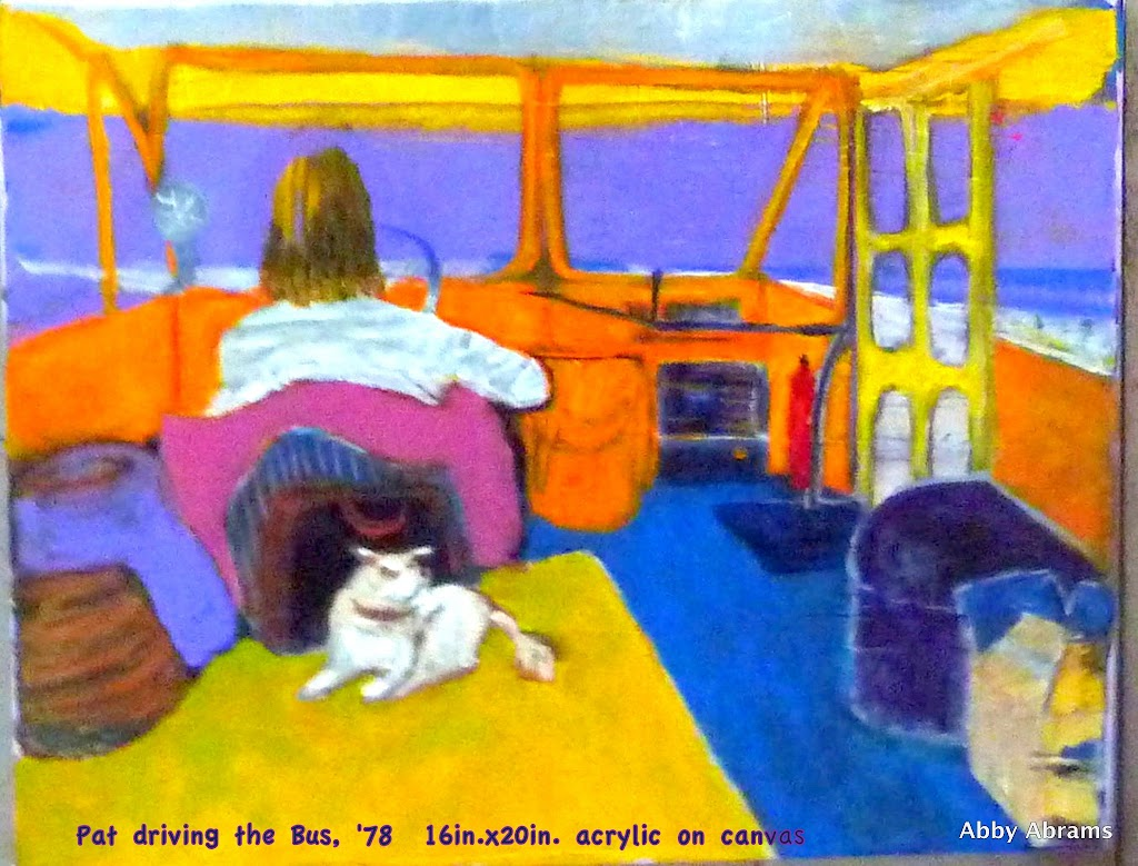 Patrick driving the bus- 1978, 16in.x20in.