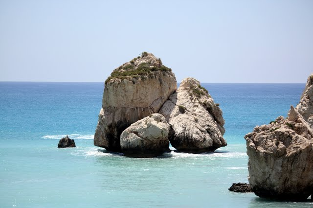 Rocks off the shore in Cyprus