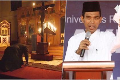 UAS soal Masuk Gereja: Nabi Tidak Mau Masuk ke Tempat yang di Dalamnya Ada Patung Berhala