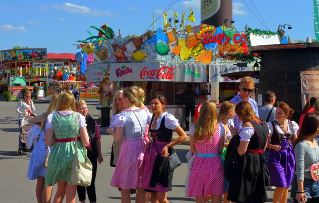 Colorful atmosphere at Stuttgart Spring Festival