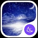 Shining moon theme icon