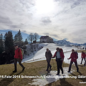 15.Febr.2014 Schneeschuh/Frühlingswanderung Gäbris