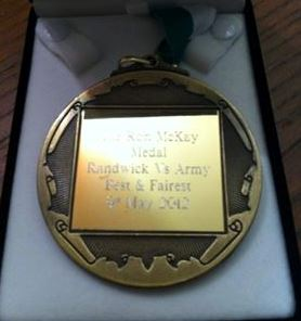 Ron McKay medal for the Best & Fairest at the annual Australian Army v Randwick Rugby fixture - Copy.jpg