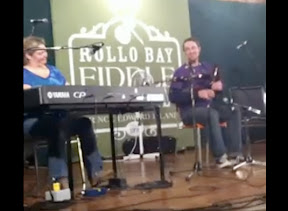 My first time on stage at Rollo Bay Fiddle Festival.  Andrea Beaton on piano.