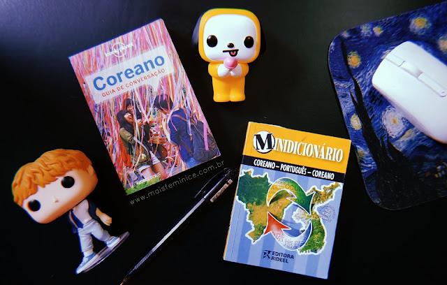 Livros para aprender coreano - Guia de conversação coreano - Dicionário de coreano