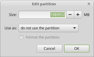 28 Edit the main partition
