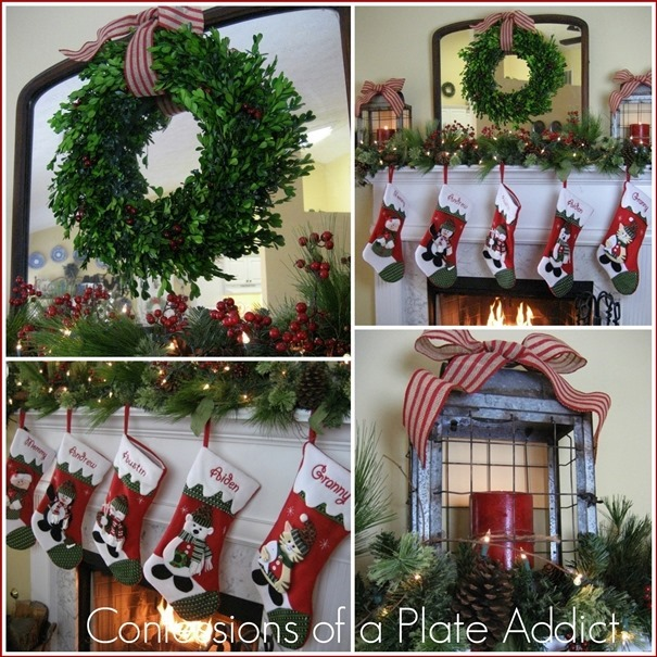 CONFESSIONS OF A PLATE ADDICT Traditional Christmas Mantel