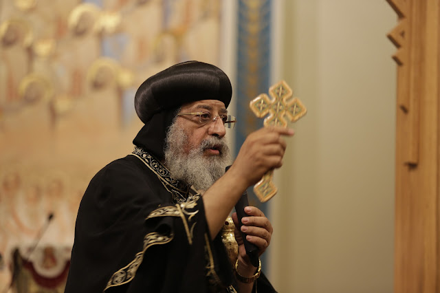 His Holiness Pope Tawadros II visit to St. Mark LA - _09A9118.JPG