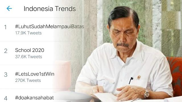 Luhut Masuk Trending Topik di Twitter, Ada Apa Ya?