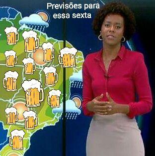 Previsão do tempo para sexta feira