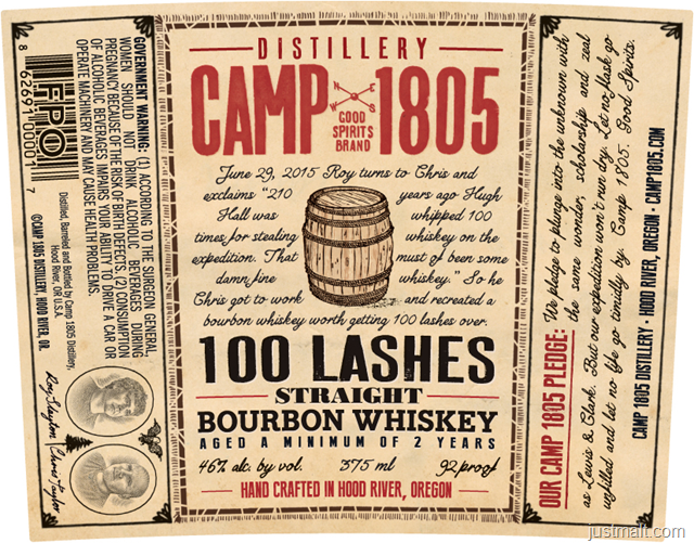 Camp 1805 100 Lashes Straight Bourbon Whiskey