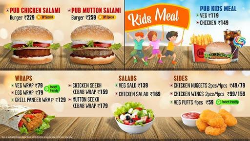 The Burger Pub menu 1