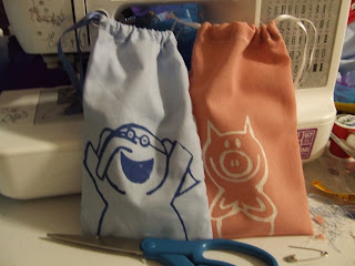 Gerald and Piggie Fabric Goodie bags