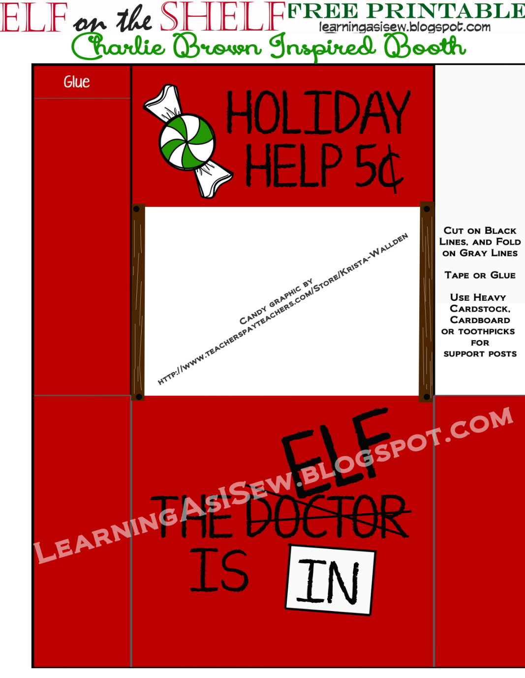 Learning As I Sew Ke Cut And Create Elf On The Shelf Holiday Help Booth Inspired By