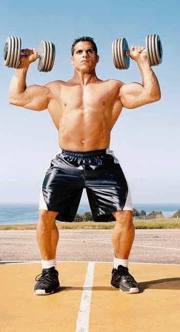BODYBUILDING ROUTINES : FULL BODY : DUMBBELL SQUAT + OVERHEAD PRESS