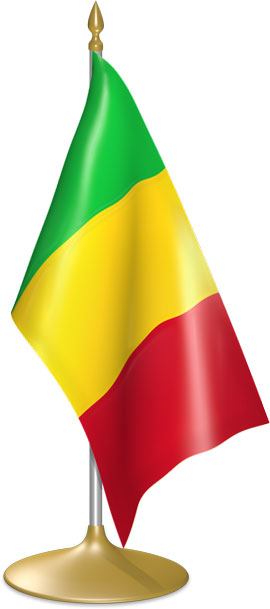 Malian table flags - desk flags