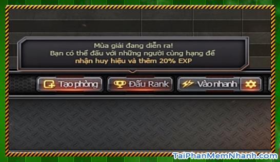 chế độ đấu rank mới trong game đột kích