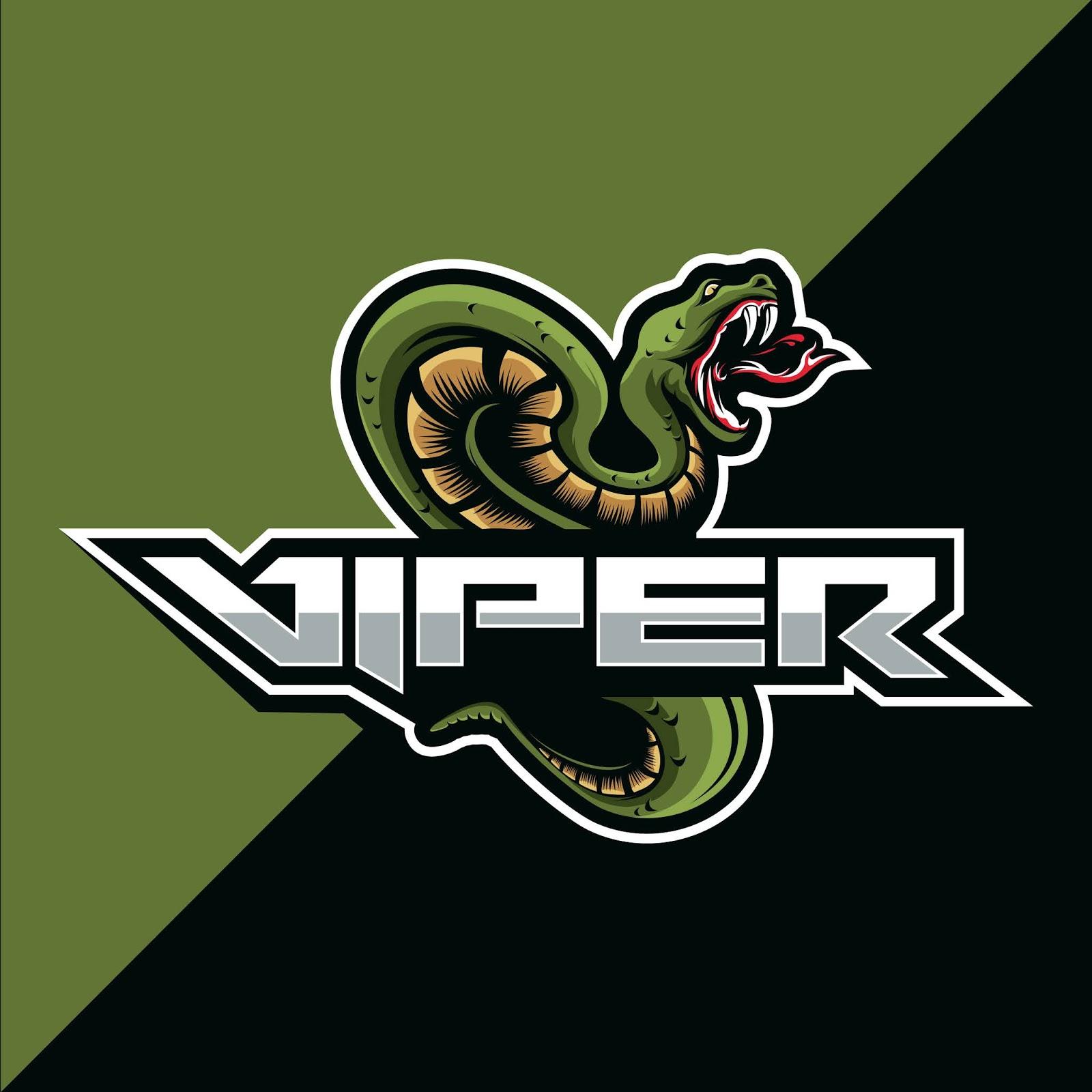 Viper Snake Mascot Esport Logo Design Free Download Vector CDR, AI, EPS and PNG Formats