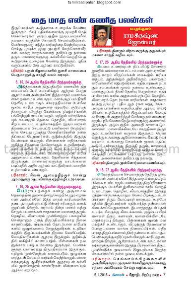 Tamil Matha Raasi Numerology Nadi Nakshathira Palan