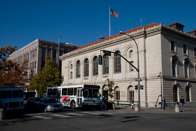 The Bellingham Federal Building, a three-story building and entered in the National Register of Historic Places, houses offices of the General Services Administration, the US Bankruptcy Courts, and the US Post Office.Credit: Peter James