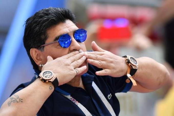 Maradona Shows Up For Argentina Vs France Match Despite Doctor's Warnings